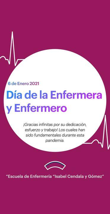 """La Escuela de Enfermería """"Isabel Cendala y Gómez"""" felicita a todas las enfermeras y enfermeros en su día, además agradec..."""