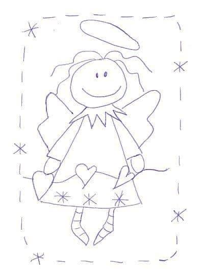 Moldes e desenhos de anjos que encontrei na Net. 🥰