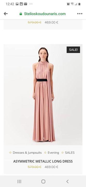 Φόρεμα metallic stelios koudounaris από 579€ μόνο 174 €!!!!